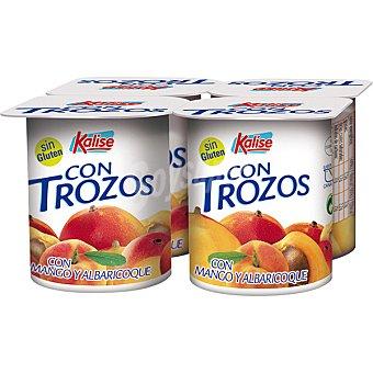 Kalise Yogur con trozos de mango y albaricoque pack4 unds. 125 g pack4 unds. 125 g