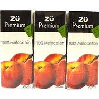 Zü Zumo de melocotón premium 100% Pack 3x20cl