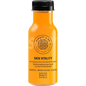 BEAUTY & GO Bebida Vitality energizante para la piel con Macro-Antioxidantes botella 25 cl 25 cl