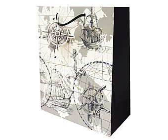 DMM Bolsa de regalo Barcos y Rumbos (L), Medidas: 26x32x12 cm, 210 G