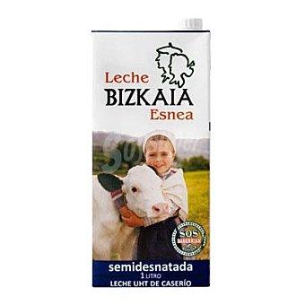 Bizkaia Esnea Leche Semidesnatada Brik 1 litro