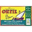 Atún claro en aceite de oliva virgen extra ecológico Lata 82 g neto escurrido Conservas Ortiz