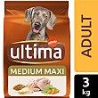 Alimento para perros adultos con pollo arroz Bolsa 3 kg Ultima Affinity