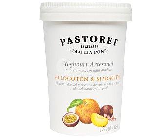 Pastoret Yogur artesanal cremoso con melocotón y maracuyá Tarrina 500 g