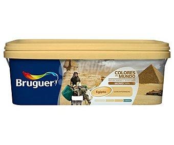 Bruguer Pintura plástica de interior, color ocre intermedio Egipto, Colores del Mundo 4 L