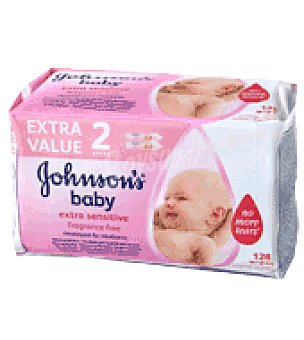 Johnson's Baby Toallitas Sensitive Pack de 2x64 ud