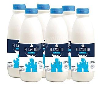 El Castillo Leche entera botella de 1,5 litros pack de 6
