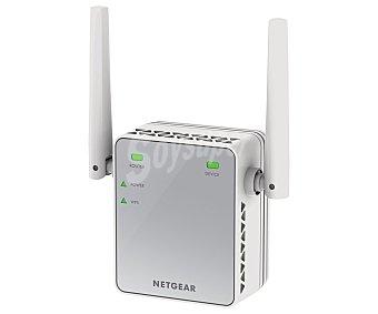 NETGEAR EX2700 Repetidor de señal Aumenta la cobertura y elimina zona muertas wifi existentes, Tecnología wifi 802.11n, Band 2.4GHz, N300, puerto ethernet,