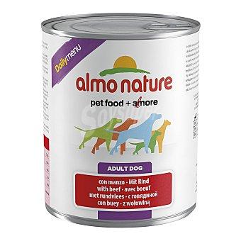 Almo Nature Comida húmeda para perros adultos pequeños, medianos y grandes Almo Nature Daily Menu ternera 800 gr