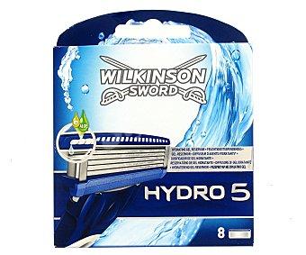 WILKINSON Hydro 5 Cargador de afeitar Pack 8 unid