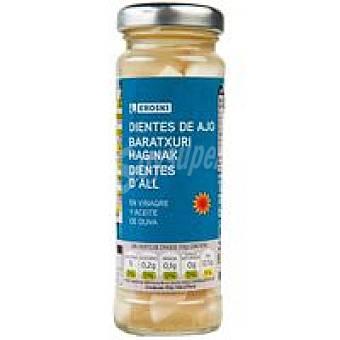 Eroski Dientes de ajo con oliva Frasco 60 g