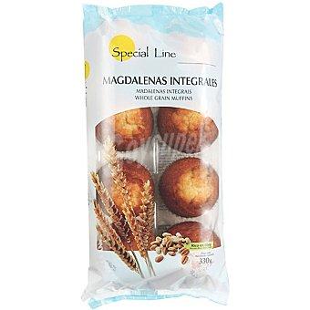Special Line magdalenas integrales sin azúcar  bandeja 330 g