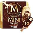 helados surtidos Classico Almendras y Blanco estuche 600 ml 10 unidades FRIGO MAGNUM Mini