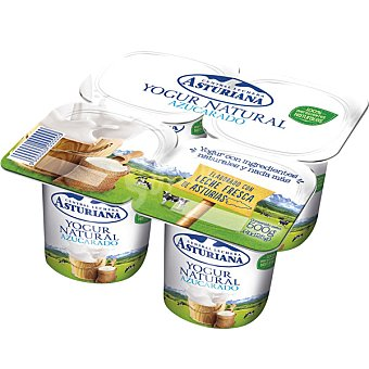 Central Lechera Asturiana Yogur natural azucarado 4 unidades de 125 g
