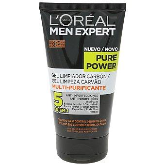 L'Oréal Men Expert Gel limpiador facial de uso diario multi-purificante Pure Power Tubo 150 ml