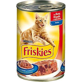 Friskies Purina con buey e hígado con verduras para gato Lata 400 g