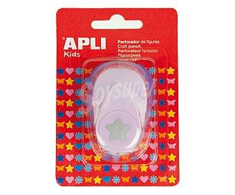 APLI Perforadora color lila, perfora en forma de estrella 1 unidad