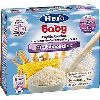 Hero Papilla líquida de multicereales Pack 2x250 ml
