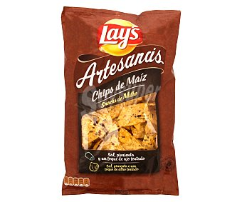 Lay's Nachos artesanos de maíz con un toque de ajo tostado 150 gramos