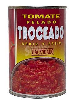 Hacendado Tomate natural troceado Bote 410 g
