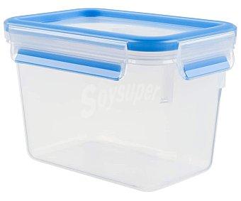 TEFAL Masterseal Recipiente rectangular con cierre hermértico de clip para alimentos, 1,1 litros, Masterseal tefal. 1,1 litros