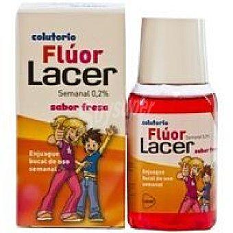 Lacer Colutorio con fluor semanal de fresa Bote 100 ml