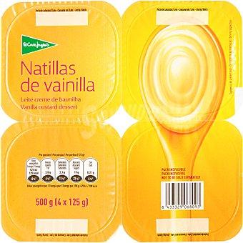 El Corte Inglés natillas de vainilla pack 4 unidades 125 g