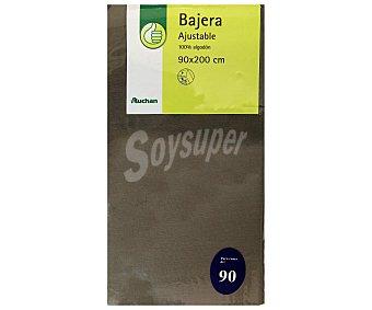 PRODUCTO ECONÓMICO ALCAMPO Sábana bajera 100% algodón, color gris piedra 30x22x90 centímetros 1 Unidad