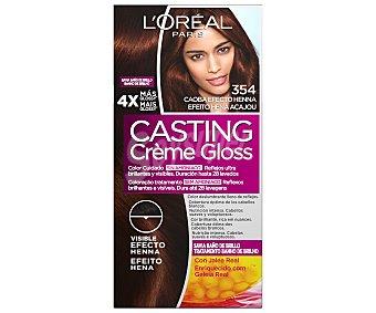 L'Oréal Tinte en crema número 354 y color caoba efecto henna Casting créme gloss castng creme gloss