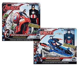 Marvel Figura titan articulada; Capitán América o Iron Patriot, más vehículo 1 unidad