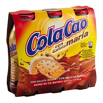 Cola Cao Batido cacao con Galleta maría pack 3x200 ml
