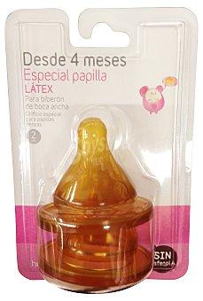 Hippos Tetina biberon latex boca ancha 2 u