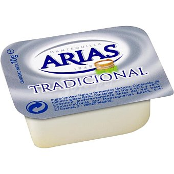 Arias Microtarrina de mantequilla caja 100 unidades x 10 g