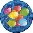 Platos Balloons 23 cm festa Paquete 10 unidades Perla