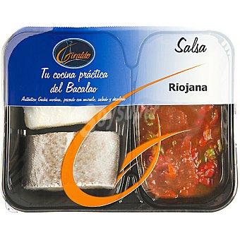 Giraldo Bacalao + salsa Riojana Bandeja 300 g