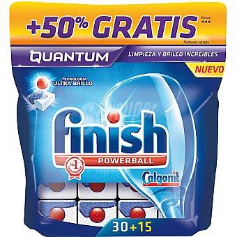 Finish Detergente lavavajillas Power Ball Quantum caja 30 pastillas + 15 gratis Caja 30 pastillas