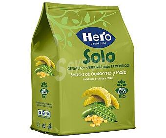 Hero Baby Solo Snacks de guisantes y maíz desde 10 meses ecológico Hero Solo sin gluten 50 g