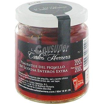 LA ALACENA DE CARLOS HERRERA Pimientos del piquillo enteros extra D.O. Lodosa Frasco 200 g neto escurrido