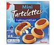 Tartaletas mini de galleta con relleno de leche y napadas con chocolate con leche 225 gramos Auchan