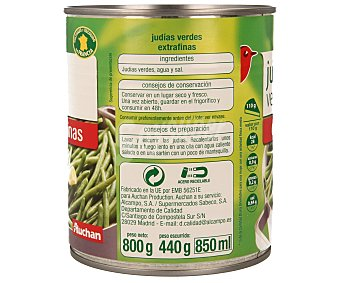 Auchan Judía Verde Extrafina Lata de 440 Gramos