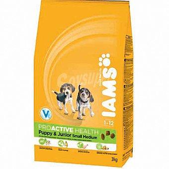 IAMS PROACTIVE NUTRITION PUPPY & JUNIOR Alimento especial para razas pequeñas y medianas Bolsa 3 g