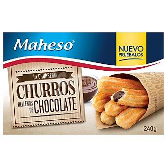 Maheso Churros rellenos de chocolate Estuche 240 g