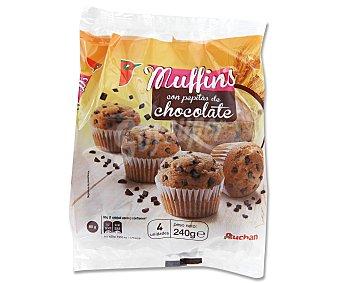 Auchan Muffins con Pepitas de Chocolate 240 Gramos