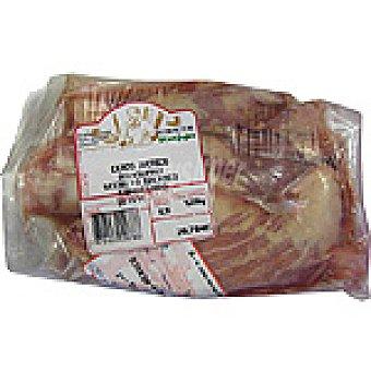 Secreto fresco de cerdo ibérico congelado peso aproximado Bandeja 1,2 kg