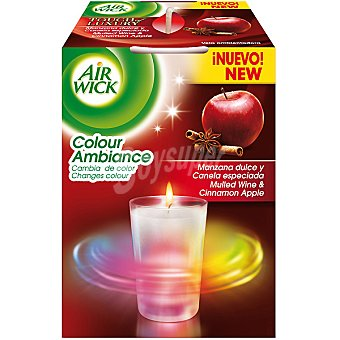 AIR WICK Colour Ambiance ambientador vela manzana dulce y canela especiada  envase 1 unidad