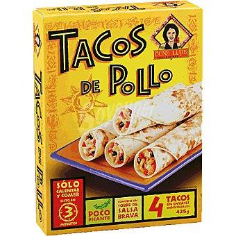 DOÑA LUPE Tex Mex Tacos de pollo 4 unidades estuche 425 g 4 unidades