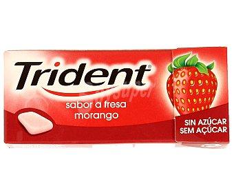Trident Chicles fruit de Fresa sin azúcar 14,5g