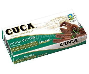 Cantabrico Filetes de anchoa del en aceite de oliva virgen extra ecológico Cuca sin gluten y sin lactosa 29 G 29 g