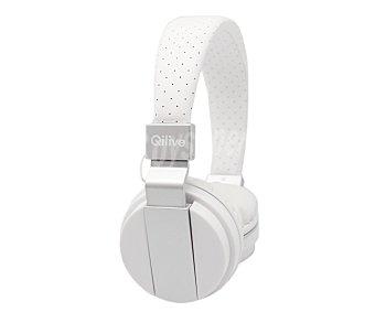 Qilive Auriculares tipo DJ Q 1171 con cable, micrófono, blanco prem Q1171