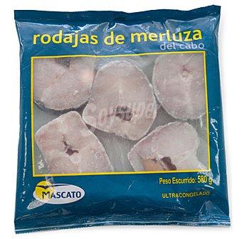 Mascato Merluza congelada rodajas del cabo Paquete 580 g peso neto escurrido